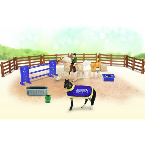 English Playset with 2 Horses (Breyer 6027)