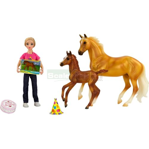 Birthday at the Barn Horse and Rider Set (Breyer 62301)
