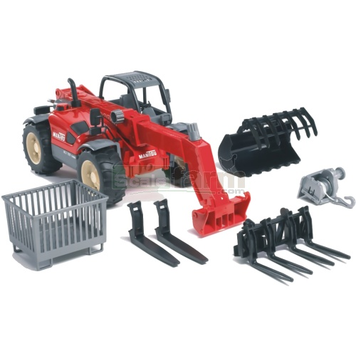 Manitou Telescopic Loader MLT 633 With Accessories (Bruder 02126)