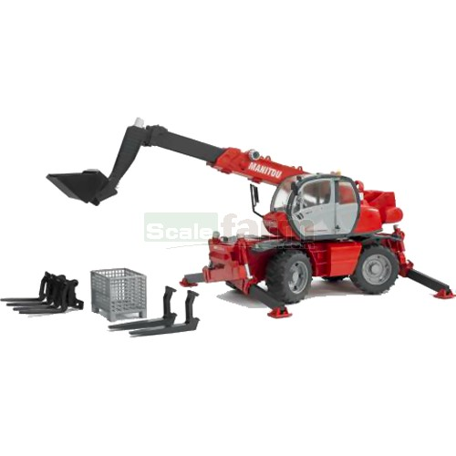 Manitou MRT 2150+ Telehandler with Accessories Set (Bruder 02129)