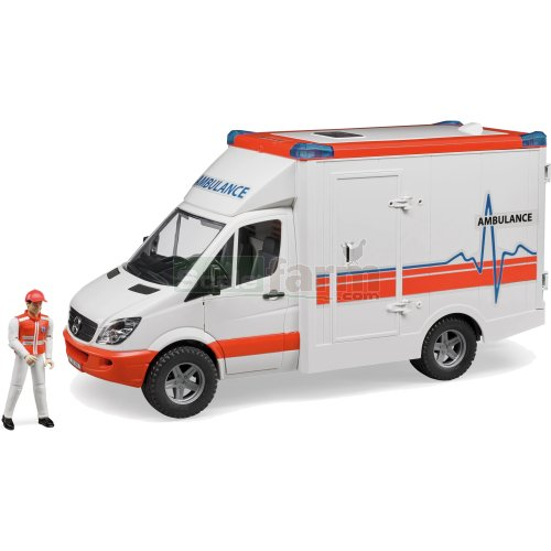 Mercedes Benz Sprinter Ambulance with Driver (Bruder 02536)