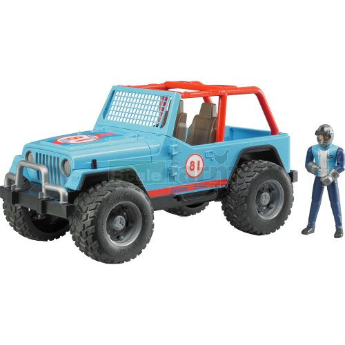 Jeep Wrangler Cross Country Racer with Driver - Team Blue (Bruder 02541)