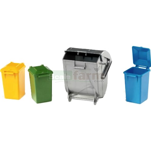 Garbage Can Set (Set of 4) (Bruder 02607)