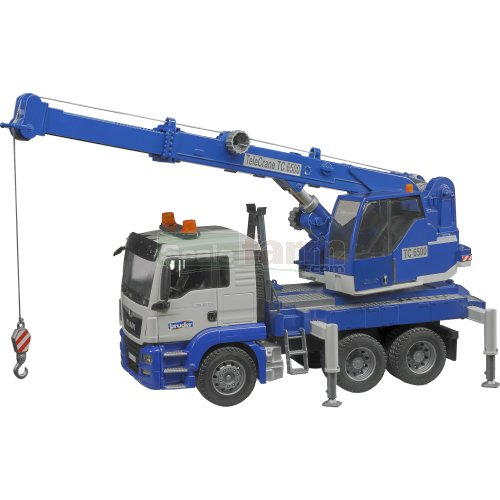 MAN TGS 26.500 Crane Truck with Light and Sound Module (Bruder 03770)