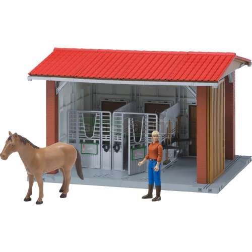 Bruder 62520 Bworld Horse Stable With Horse And Accessories