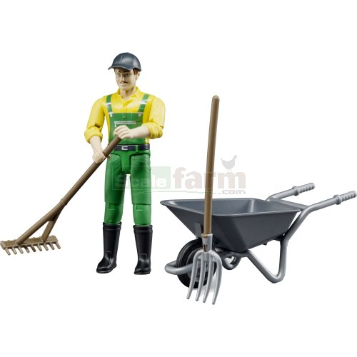 Farmer Figure and Accessories Set (Bruder 62610)