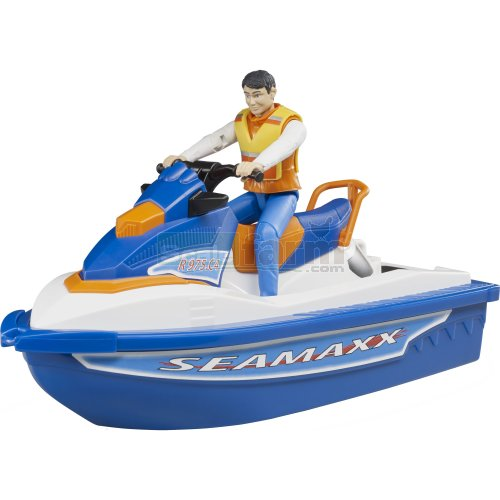 Seamaxx R975.C4 Personal Water Craft with Figure (Bruder 63150)