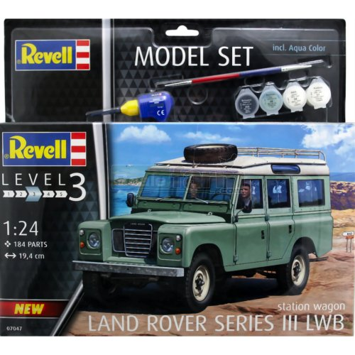 Land Rover Series III LWB Model Construction Kit Set (Paints included) (Revell 67047)