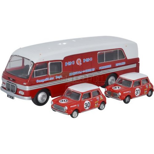 BMC Car Transporter & Two Minis - BMC Competitions Dept. (Oxford 76BMC003)