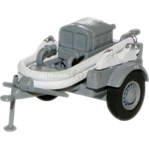Coventry Climax Pump Trailer - Grey (Oxford 76CCP001)