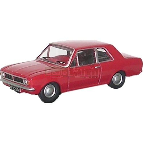 Ford Cortina Mk2 - Red (Oxford 76COR2003)