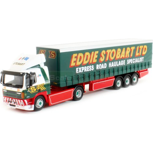 DAF FT85CF Curtainside Trailer - Eddie Stobart (Oxford 76DAF003)