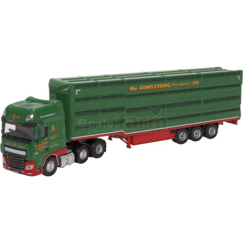 DAF XF Euro 6 Livestock Trailer - W M Armstrong (Oxford 76DXF003)