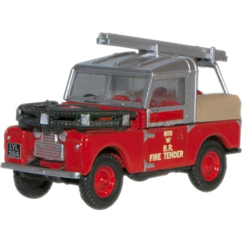 Land Rover 88 Fire Tender - British Rail (Oxford 76LAN188015)