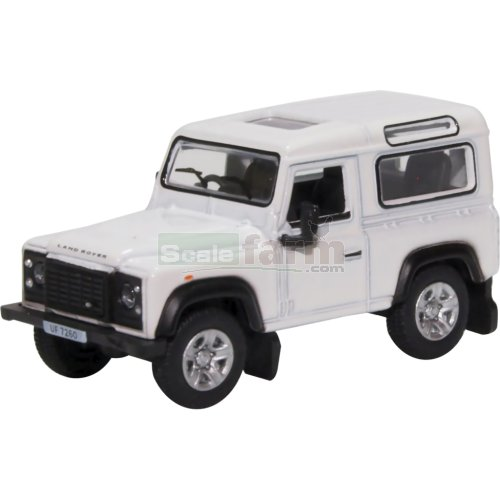 Land Rover Defender 90 Station Wagon - White (Oxford 76LRDF012)