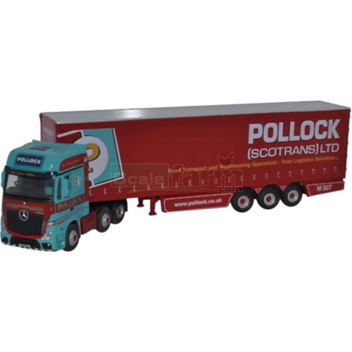 Mercedes MP4 GSC Actros Curtainside - Pollock (Oxford 76MB002)