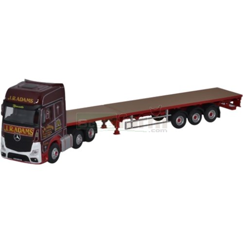 Mercedes Actros GSC Flatbed Trailer - J R Adams (Oxford 76MB003)