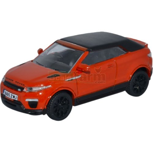 Range Rover Evoque Convertible - Phoenix Orange (Oxford 76RREC001)