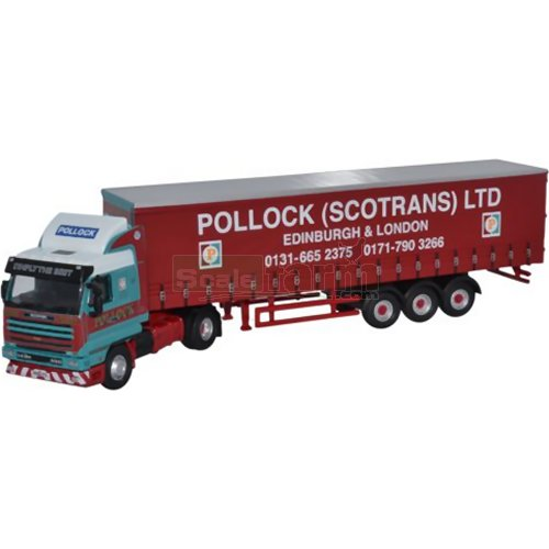 Scania 143 40ft Curtainside - Pollock (Oxford 76S143001)