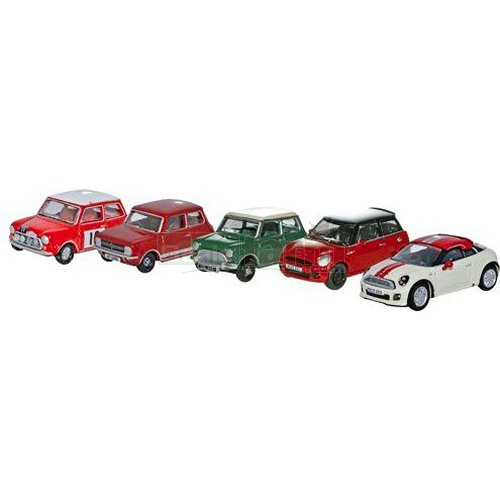 Classic / BMW Mini 5 Car Set (Oxford 76SET21)