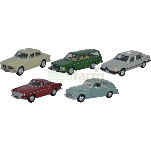 Volvo 5 Car Set (Oxford 76SET52)