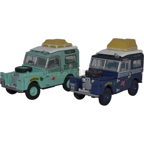 Land Rover Defender 2 Car Set - First Overland (Oxford 76SET64)