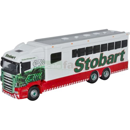 Scania Highline Horsebox - Eddie Stobart (Oxford 76SHL02HB)