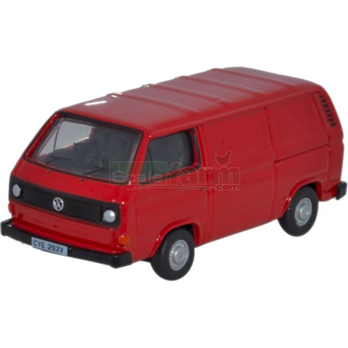 VW T25 Van - Orient Red (Oxford 76T25007)