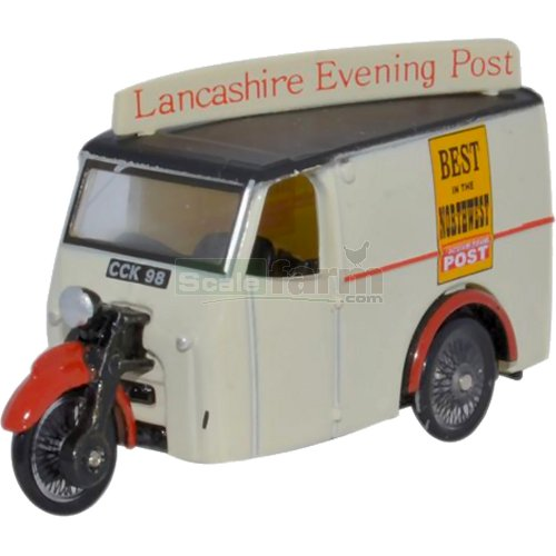 Tricycle Van - Lancashire Evening Post (Oxford 76TV006)