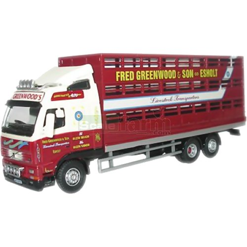 Volvo FH Livestock Transporter - Fred Greenwood (Oxford 76VOL01LS)