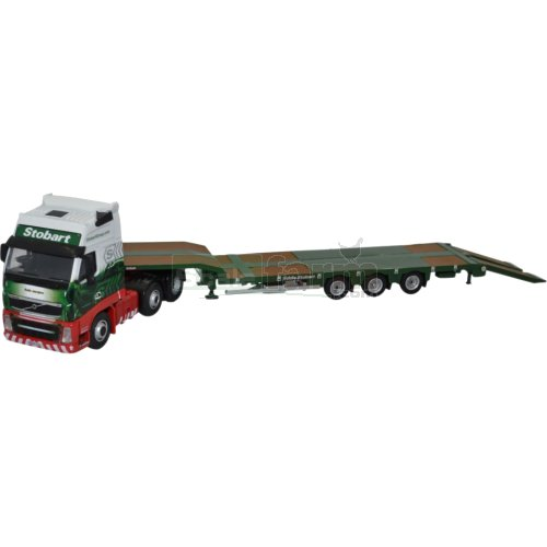 Volvo FH3 Nooteboom Semi Low Loader - Stobart (Oxford 76VOL01ST)