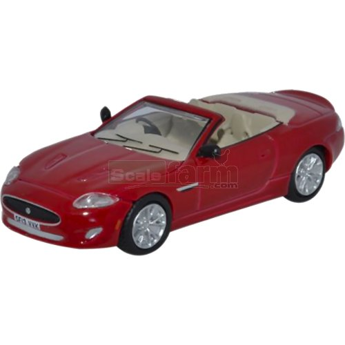 Jaguar XK Convertible - Italian Racing Red (Oxford 76XK004)