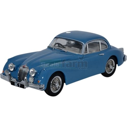 Jaguar XK150 Coupe - Bluebird Blue (Donald Campbell) (Oxford JAGXK150006)