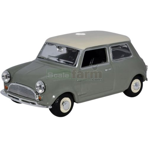 Classic Mini Car - Tweed - Grey/Old English White (Oxford MIN021)