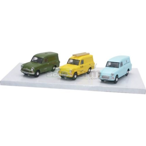 Ford Anglia 3 Car Set (Oxford SET24)