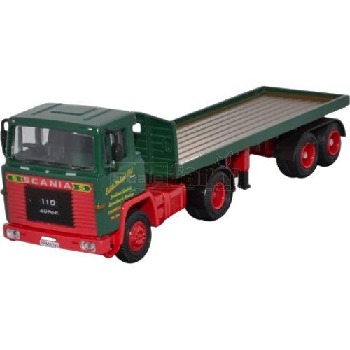 Scania 110 Flatbed Trailer - Eddie Stobart (Oxford STOB009)