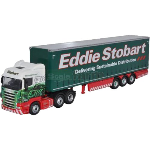 Scania Highline Curtainside - Eddie Stobart 'Adrienne' (Oxford STOB039)