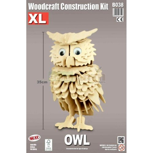 X Large Owl Woodcraft Construction Kit Quay B038