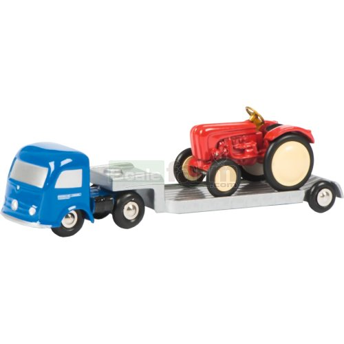 Mercedes Benz Flatbed Trailer with Tractor (Schuco 01289)