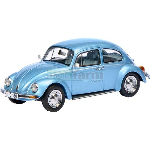 1:43 Schuco VW Beetle Motorhome bluemetallic//creme