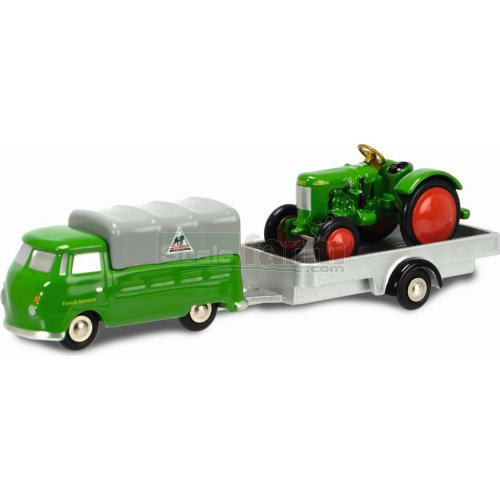 VW T1 'Fendt Service' with Trailer and Tractor (Schuco 05634)