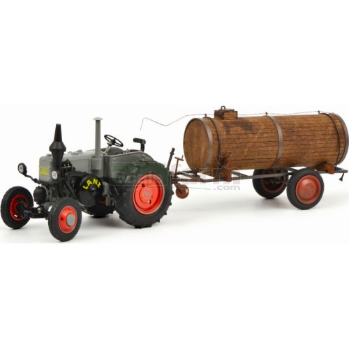 Lanz Bulldog with Manure Trailer (Schuco 07694)