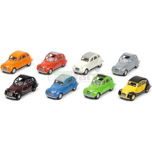 Citroen 2CV 8 Car Set (Schuco 26401)