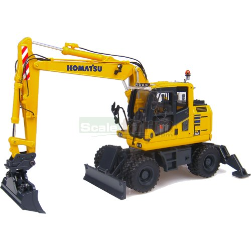 Komatsu PW148-10 Wheel Excavator with Bucket (Universal Hobbies 8083)