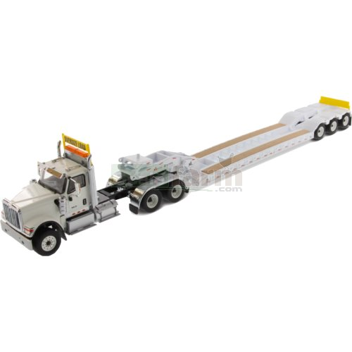 International HX520 Tandem Truck with XL120 Low-Profile HDG Trailer (White) (Diecast Masters 71015)