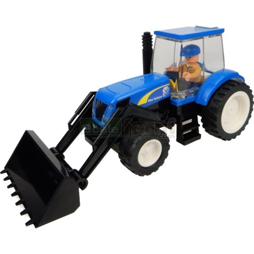 New Holland Tractor with Front Loader Building Block Kit (Universal Hobbies K1209)