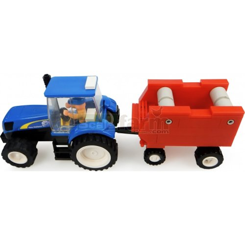 New Holland Tractor with Hay Baler Building Block Kit (Universal Hobbies K1213)